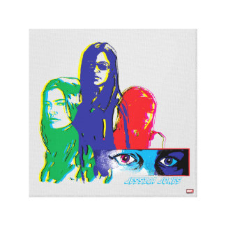 Jessica Jones Multi-Color Character Graphic Canvas Print
