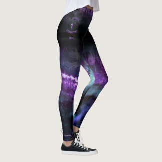 ":Jessica"" Purple Abstract with fade with gymnast Leggings"