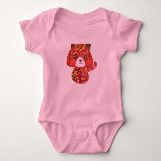 Jessica, The Cute Red Panda Baby Bodysuit