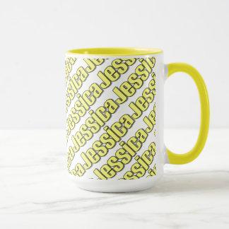 Jessica Yellow Style Mug