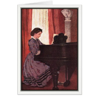 Jessie Willcox Smith - Beth at the Piano Card