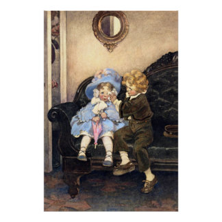 Jessie Willcox Smith - The Runaway Couple Poster