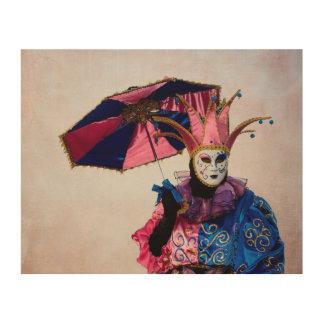 Jester Carnival Costume, Venice Wood Wall Decor