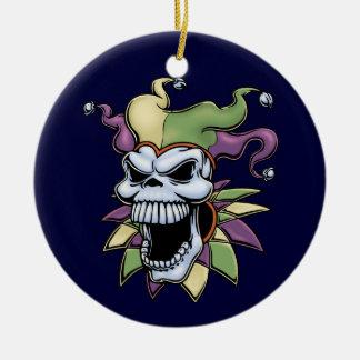 Jester II Round Ceramic Decoration