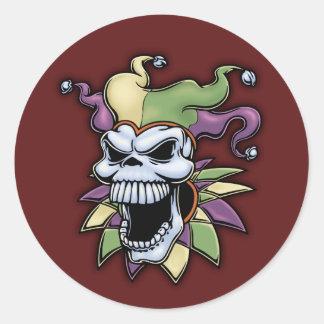 Jester II Round Sticker
