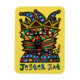 """Jester Kat"" 3""x4"" Magnet"