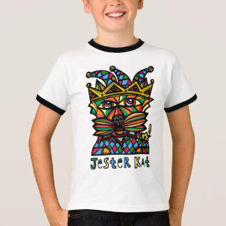 """""""Jester Kat"""" Boys Ringer Shirt"""