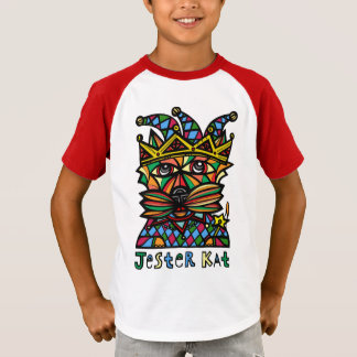 """Jester Kat"" Boys' Short Sleeve Raglan T-Shirt"