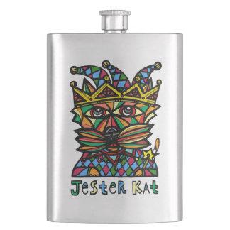 """Jester Kat"" Classic Flask"