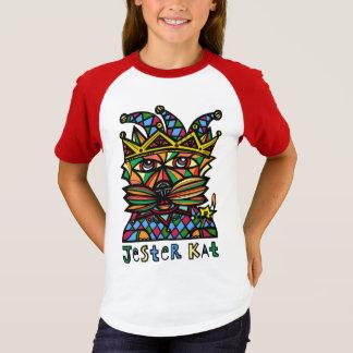 """Jester Kat"" Girls' Short Sleeve Raglan T-Shirt"