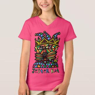 """Jester Kat"" Girls' V-Neck T-Shirt"