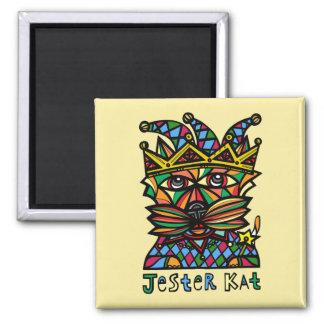 """""""Jester Kat"""" Square Magnet"""