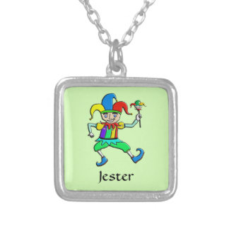 Jester Silver Plated Necklace