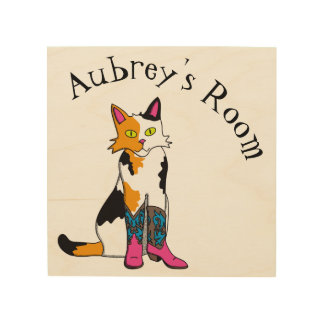 Jester the cat kid's room sign
