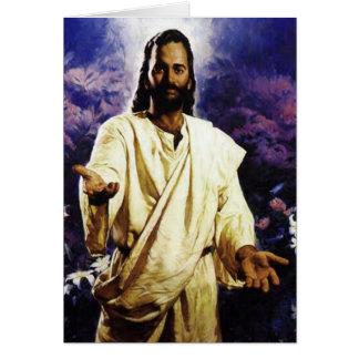 Jesus 2 Greeting card