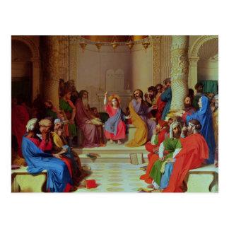 Jesus Among the Doctors, 1862 Postcard