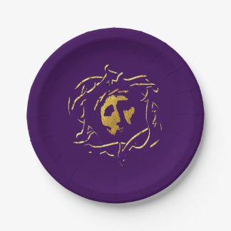 Jesus and Crown of Thorns 7 Inch Paper Plate