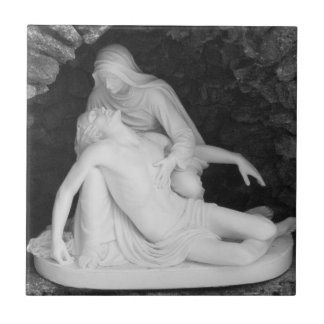 Jesus And Mary Black And White Photo Ceramic Tile