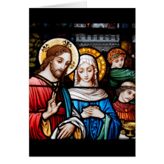 Jesus and Mary Card