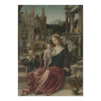Jesus and Mother Mary Breastfeeding Custom Invitation
