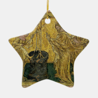Jesus and the Samaritan Woman at the Well Ceramic Star Decoration