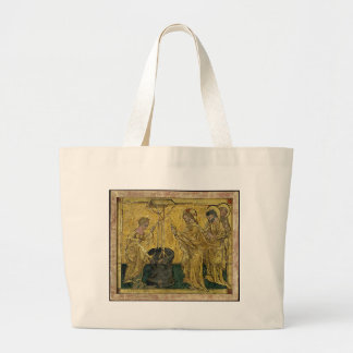 Jesus and the Samaritan Woman at the Well Large Tote Bag