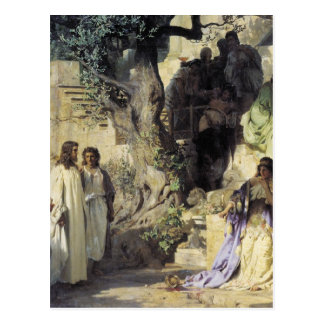 Jesus and the Sinners Postcard