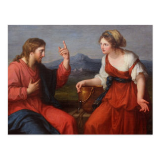 Jesus and the Woman at the Well Postcard