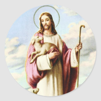 Jesus ans Sheeps Sticker