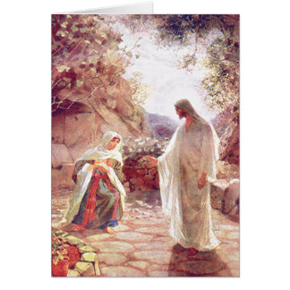 Jesus Appears To Mary Magdalene Card