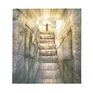 Jesus at Empty Tomb Easter Resurrection Notepad