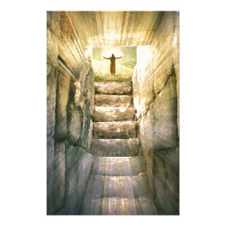 Jesus at Empty Tomb Easter Resurrection Stationery
