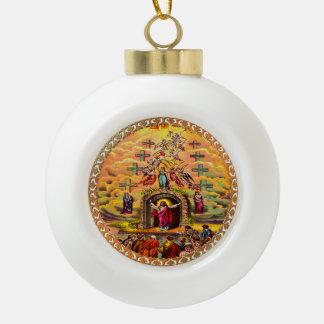 Jesus at Heaven's Gate Ceramic Ball Christmas Ornament