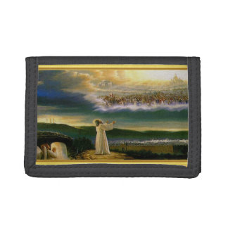 Jesus at Heaven's Gate Gold Texture Design Trifold Wallet