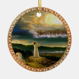 Jesus at Heaven's Gate Vintage design Ceramic Ornament