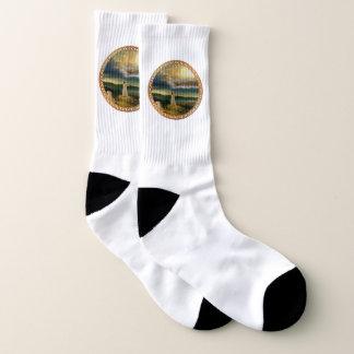 Jesus at Heaven's Gate Vintage design Socks
