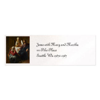 Jesus at Mary and Martha's Home Pack Of Skinny Business Cards