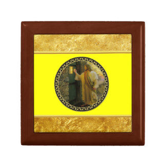 Jesus At Your Door gold foil with yellow texture Gift Box