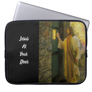 Jesus At Your Door Vintage Laptop Sleeve