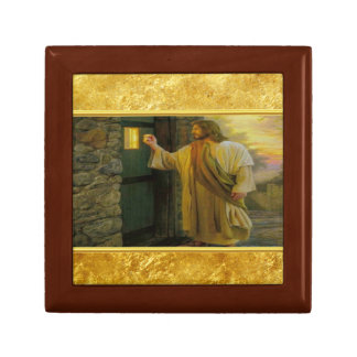 Jesus At Your Door with a gold foil design Gift Box