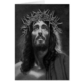 Jesus B&W Greeting card