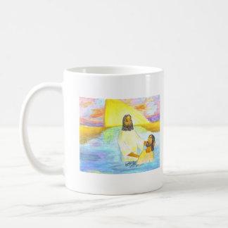 Jesus' Baptism Basic White Mug