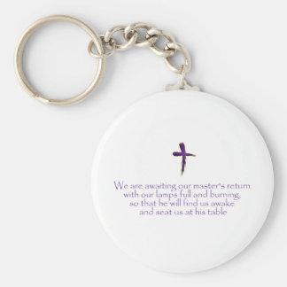 Jesus Basic Round Button Key Ring