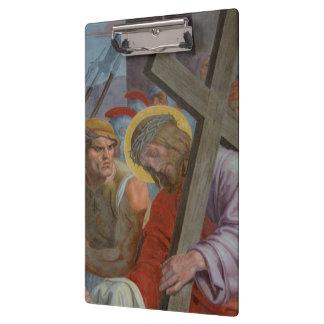 Jesus Bearing His Cross Clipboard