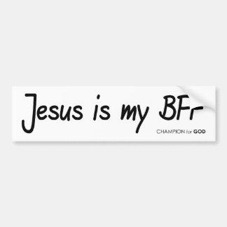 Jesus BFF Bumper Sticker