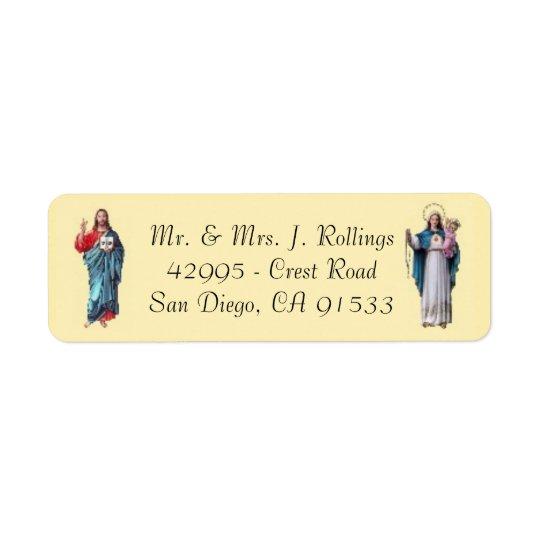 Jesus & Blessed Virgin Mary  Return Address Labels