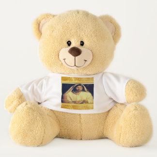 Jesus breaking bread matthew 14-13 Gold texture Teddy Bear