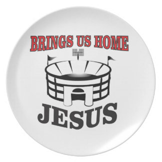 Jesus brings us home plate