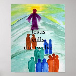 Jesus Calls The Twelve Poster