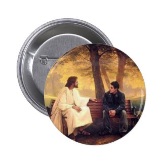Jesus Cares For Me Pinback Buttons